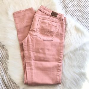 American Eagle Outfitters Jeans - AEO stretch skinny jeans | pink